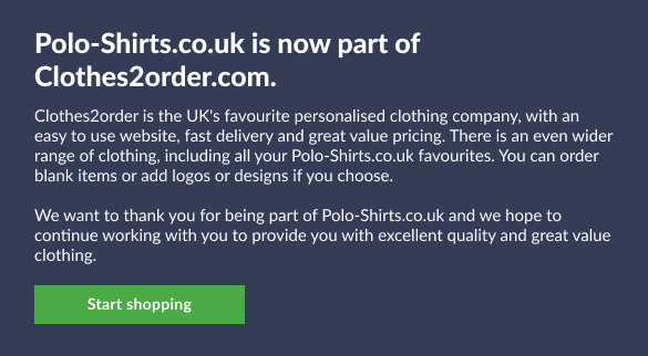 Polo-shirts is now part of Clothes2order